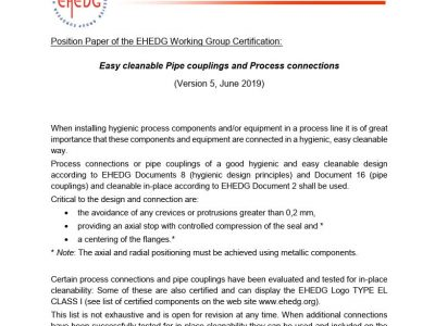 EHEDG Position Paper